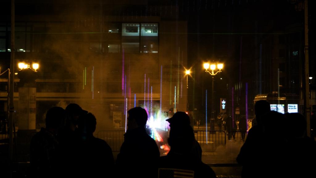 """""""Grid"""" Nuit Blanche Paris Oeuvre Interactive  Soliman Lopez (Artplataforme Paris)"""